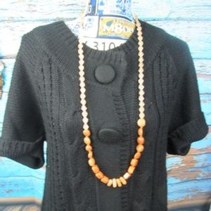 Chico's Long Beaded Necklace